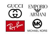 Gucci, Armani, RayBan & Michael Kors solbriller