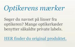 Kontaktlinser fra Synoptik, Louis Nielsen, Profil Optik mm.