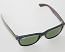 Ray-Ban New Wayfarer Bicolor solbriller med grønne glas og sort & grønt stel