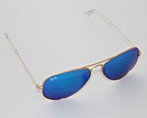 5116b8fa8534 RayBan Aviator solbriller blå guld RB3025 112 17