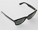 Ray-Ban Wayfarer solbriller klassikeren med grønne glas og sort stel