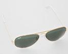 RayBan Aviator solbriller guld/grøn RB3025 L0205