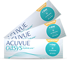 Acuvue Oasys 1-Day for Astigmatism bygningfejl linser