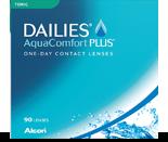 Dailies AquaComfort Plus Toric er 1-dagslinse fra Alcon