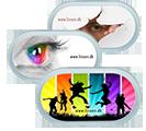 Etui til kontaktlinser med spejlæske