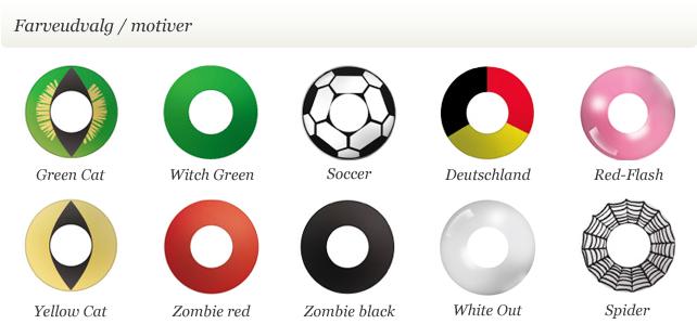dc5d5f10aff4 Magiclens farvede party kontaktlinser med motiver
