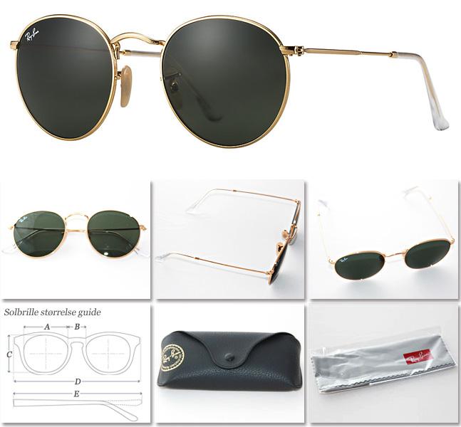 583159f0bd25 RayBan Round Metal solbriller RB3447 001